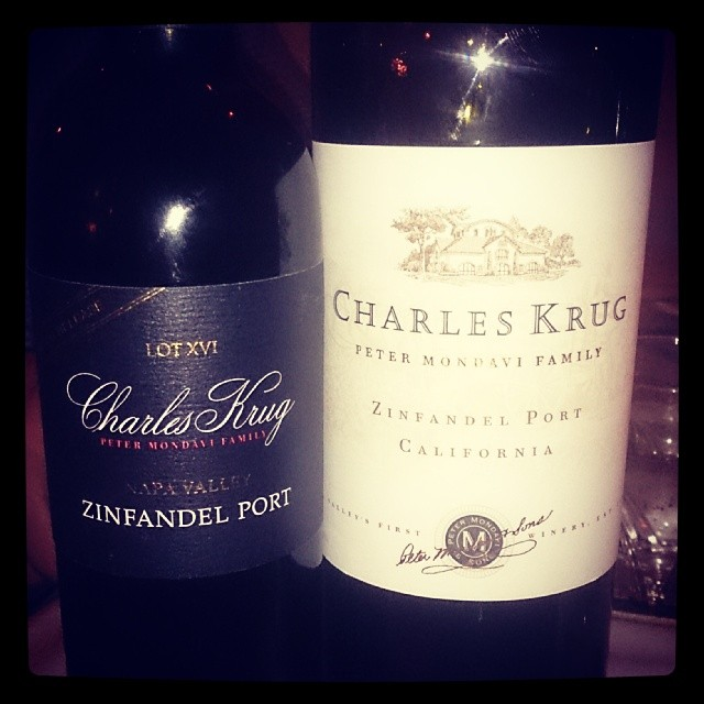 Left one 2012 right one around 1990. Nice :-) #charleskrug #zinfandelport #napavalley