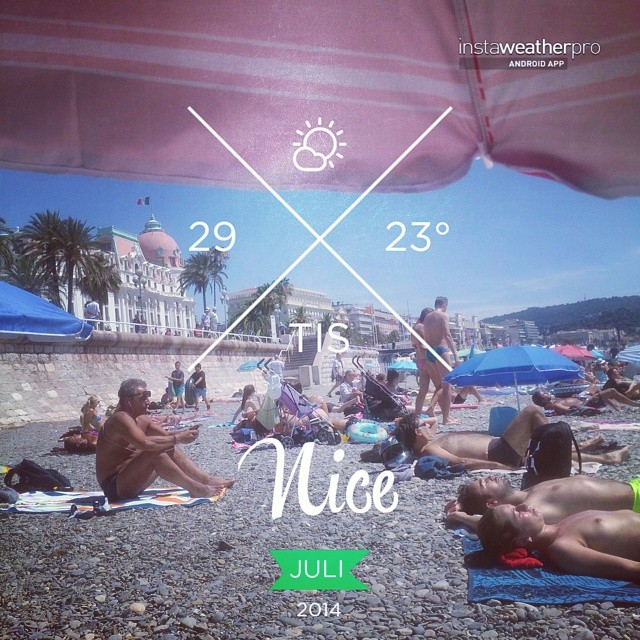Foto av Instaweather  Free App! @instaweatherpro #instaweather #instaweatherpro #weather #wx #android  #nice #frankrike #day #summer #clouds #afternoon #fr