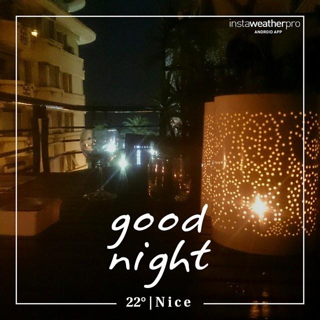 Foto av Instaweather  Free App! @instaweatherpro #instaweather #instaweatherpro #weather #wx #android  #nice #frankrike #night #summer #clear #morning #fr
