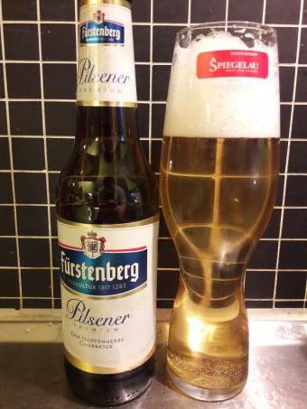 Pilsnerglas med Fürstenberg