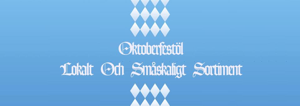 Oktoberfestöl Lokalt Och Småskaligt Sortimentet
