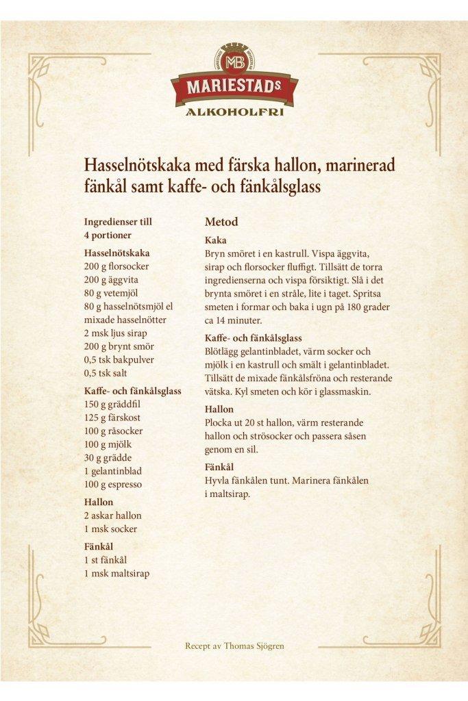 Den Stora Smakresan 2017 Recept hasselnötskaka Thomas Sjögren