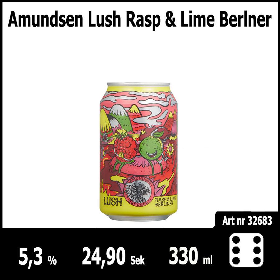 Amundsen Lush Rasp & Lime Berlner - Pilsner.nu
