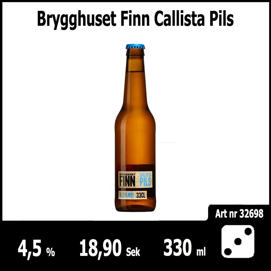 Brygghuset Finn Callista Pils - Pilsner.nu