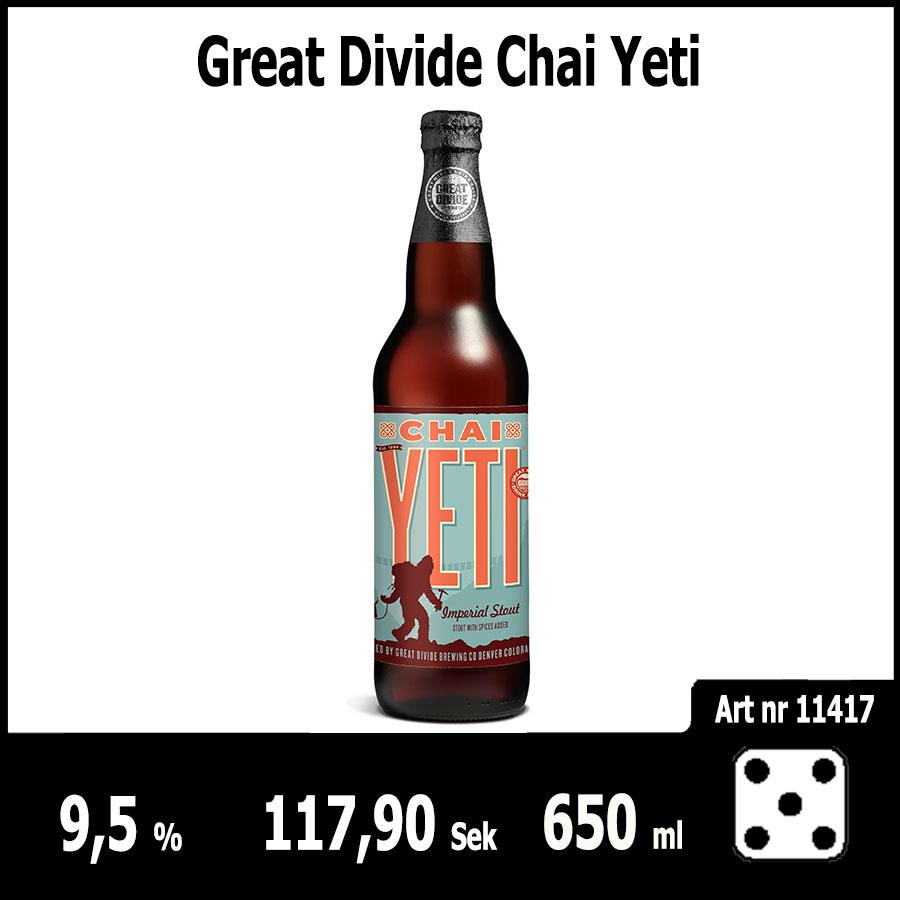 Great Divide Chai Yeti - Pilsner.nu