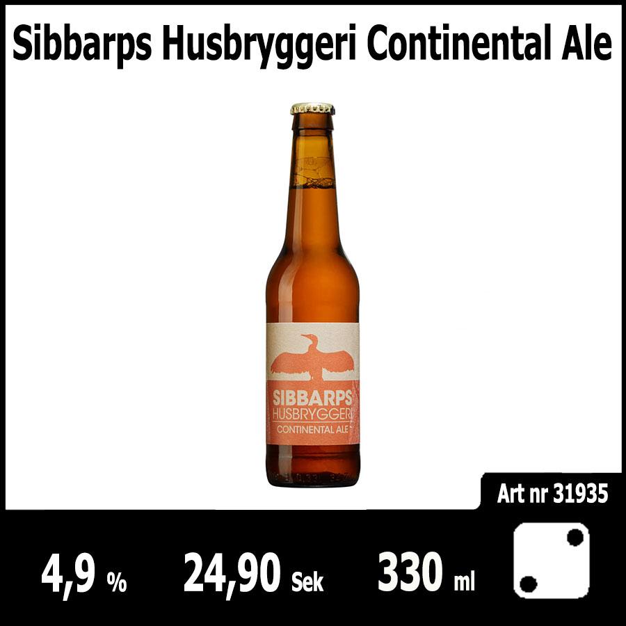 Sibbarps Husbryggeri Continental Ale - Pilsner.nu