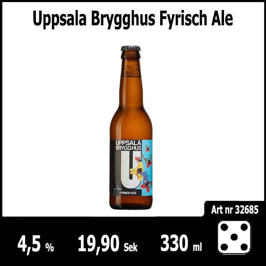 Uppsala Brygghus Fyrisch Ale - Pilsner.nu