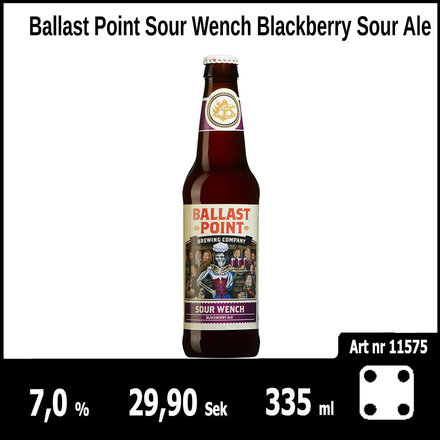 Ballast Point Sour Wench Blackberry Sour Ale - Pilsner.nu