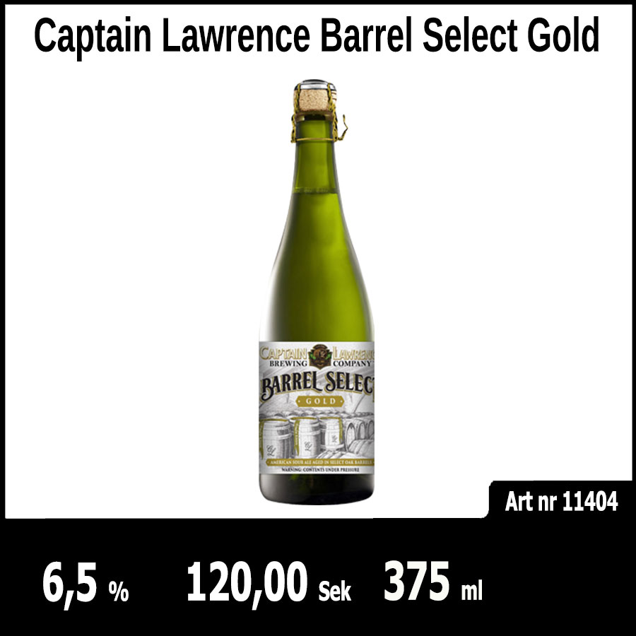 Captain Lawrence Barrel Select Gold - Pilsner.nu