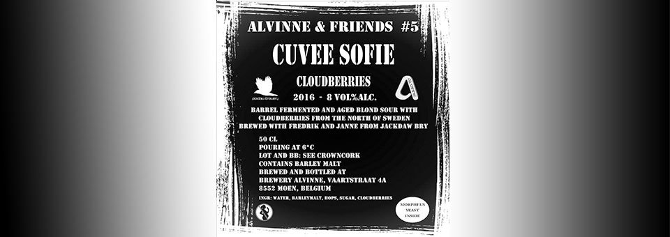 Jackdaw Brewery gör Cuvée Sofie Cloudberries 2017 med Brouwerij Alvinne