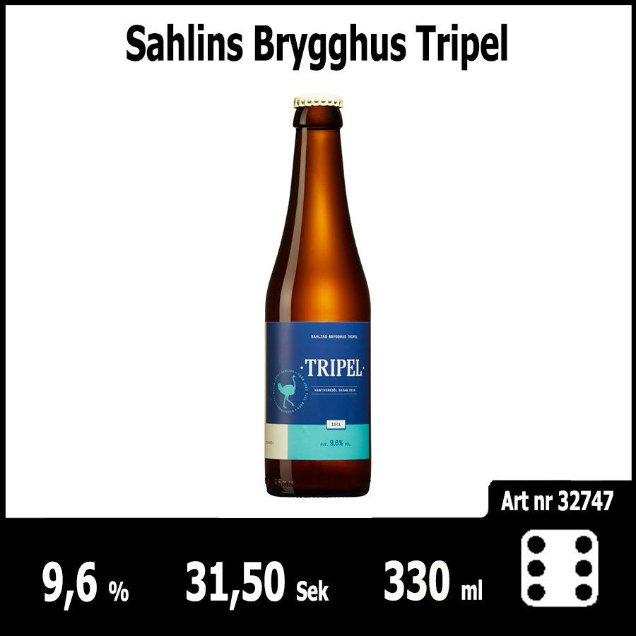 Sahlins Brygghus Tripel - Pilsner.nu