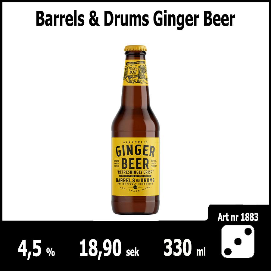 Barrels & Drums Ginger Beer - Fasta Sortimentet Juni 2018 : Pilsner.nu