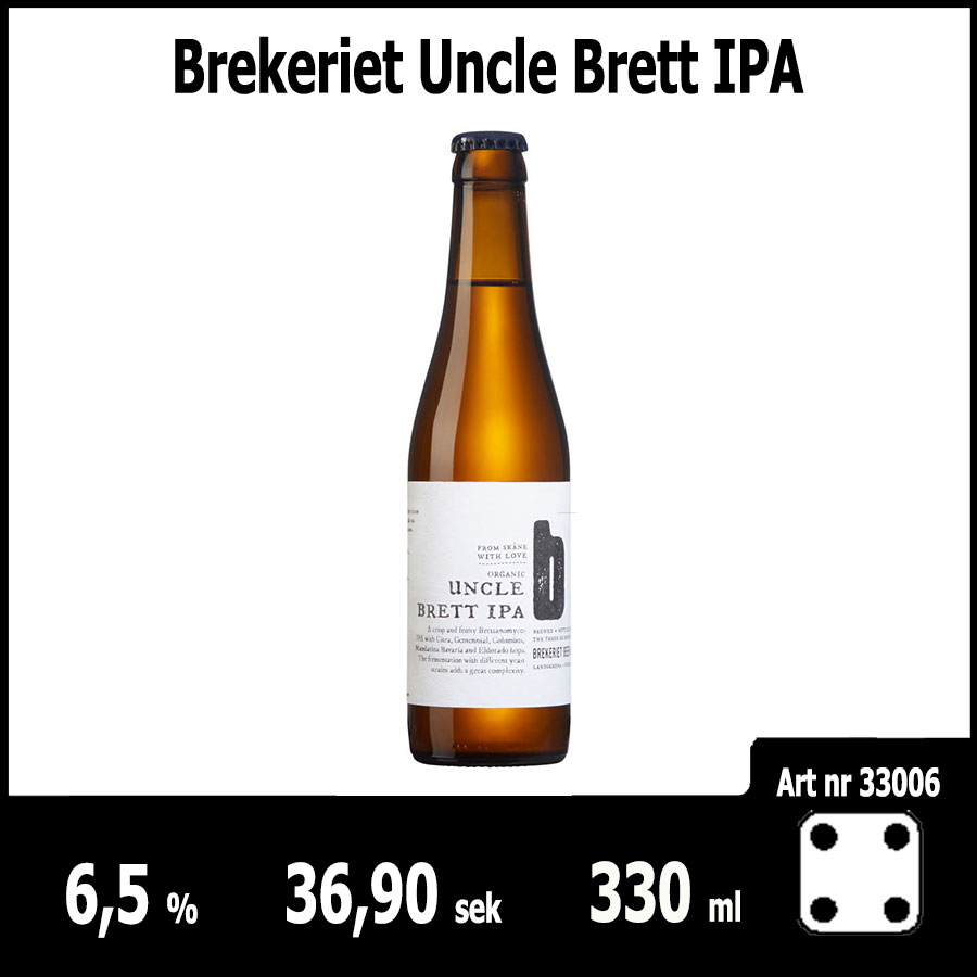 Brekeriet Uncle Brett IPA - Pilsner.nu