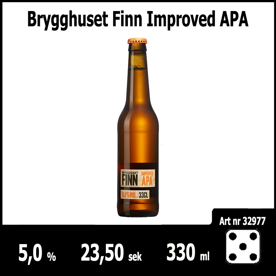 Brygghuset Finn Improved APA - Pilsner.nu