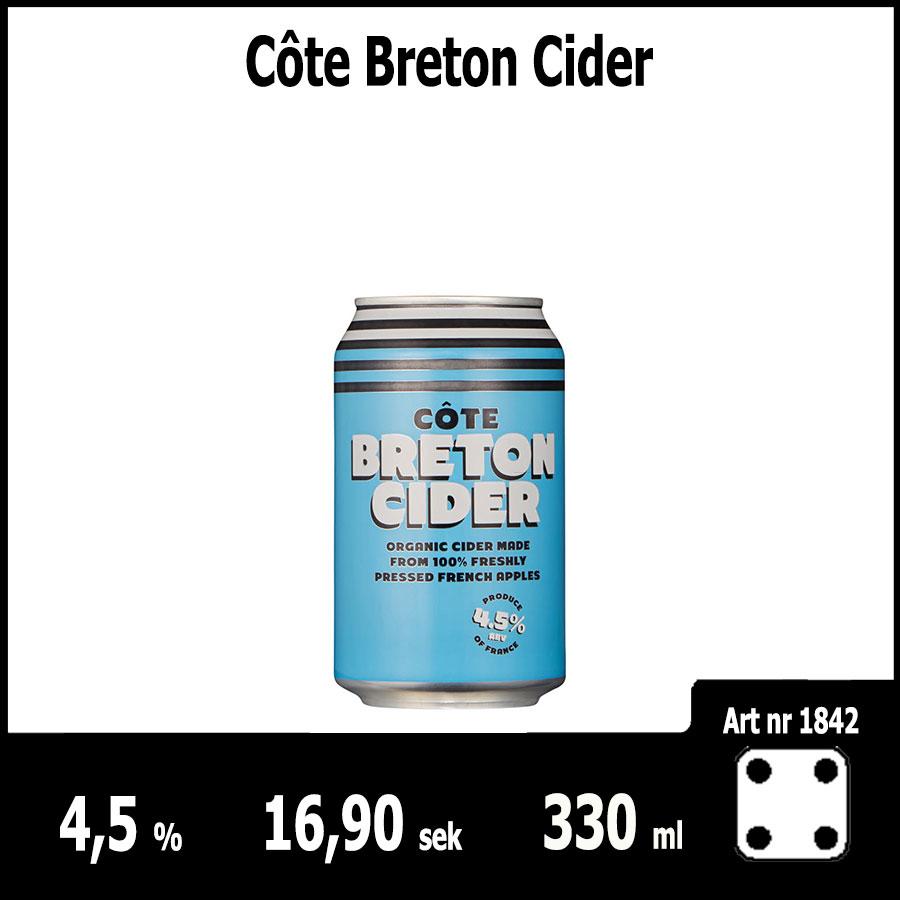 Côte Breton Cider - Fasta Sortimentet Juni 2018 : Pilsner.nu