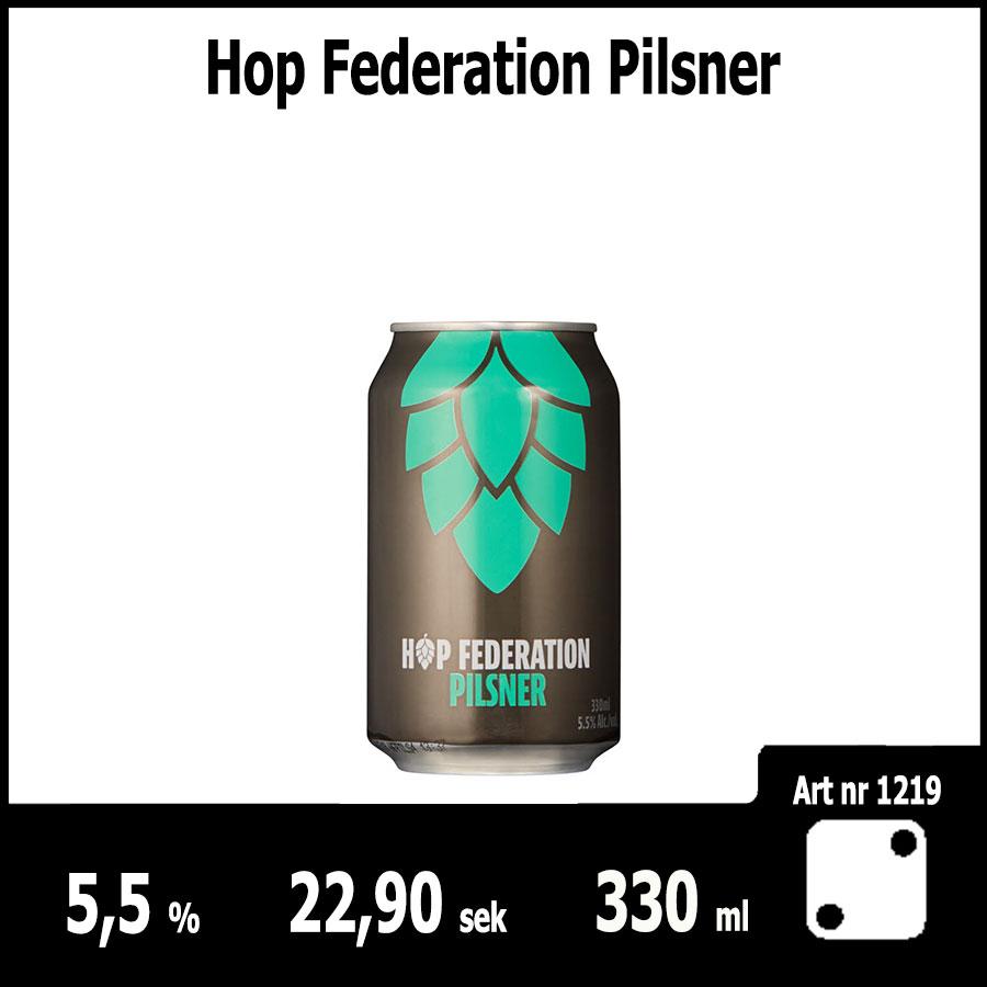 Hop Federation Pilsner - Fasta Sortimentet Juni 2018 : Pilsner.nu