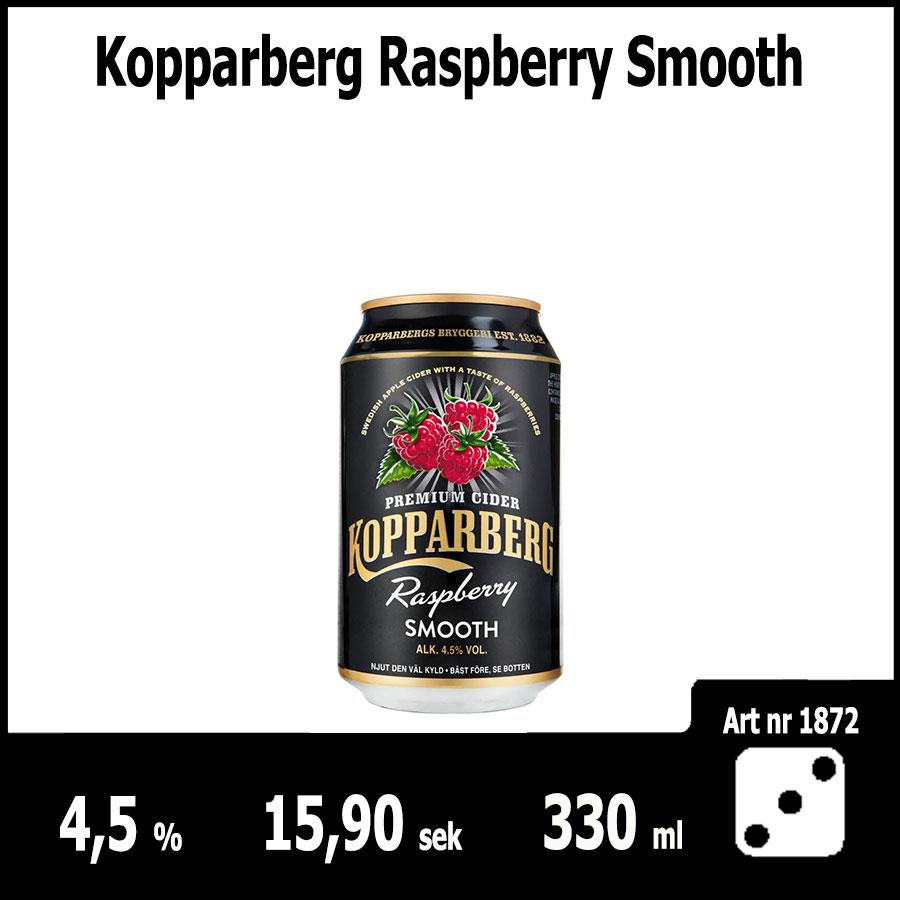 Kopparberg Raspberry Smooth - Fasta Sortimentet Juni 2018 : Pilsner.nu