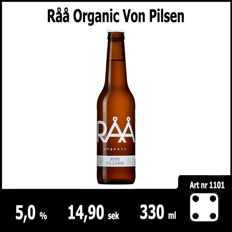 Råå Organic Von Pilsen - Fasta Sortimentet Juni 2018 : Pilsner.nu