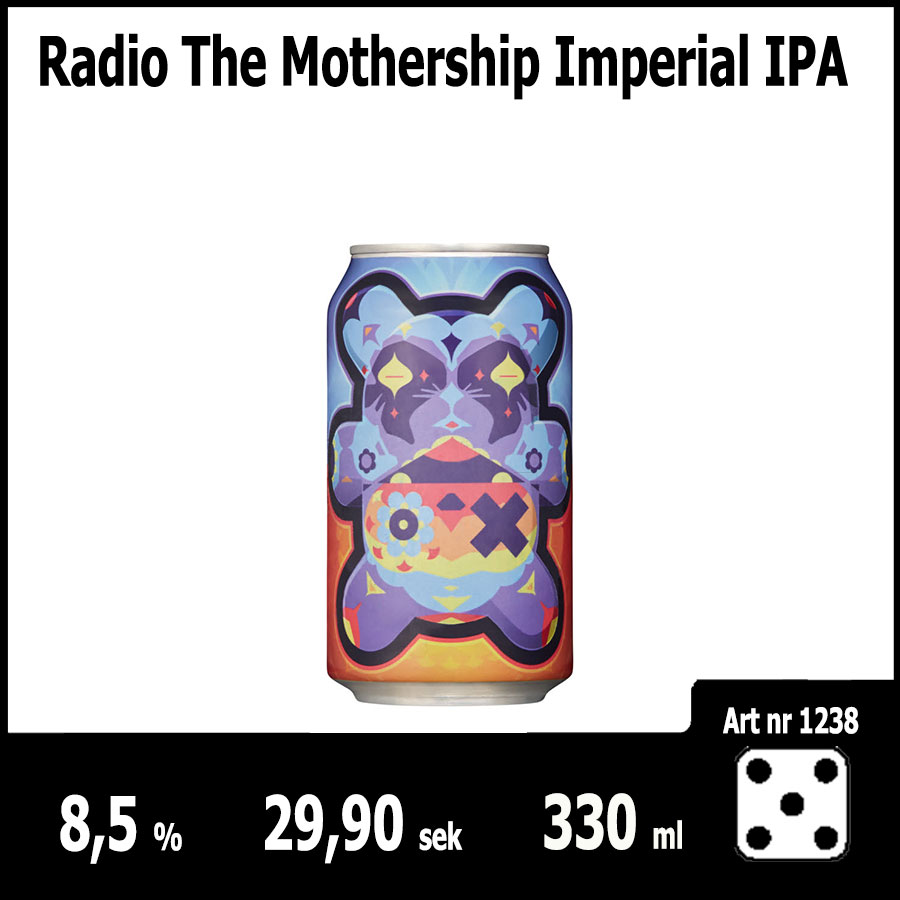 Radio The Mothership Imperial IPA - Fasta Sortimentet Juni 2018 : Pilsner.nu
