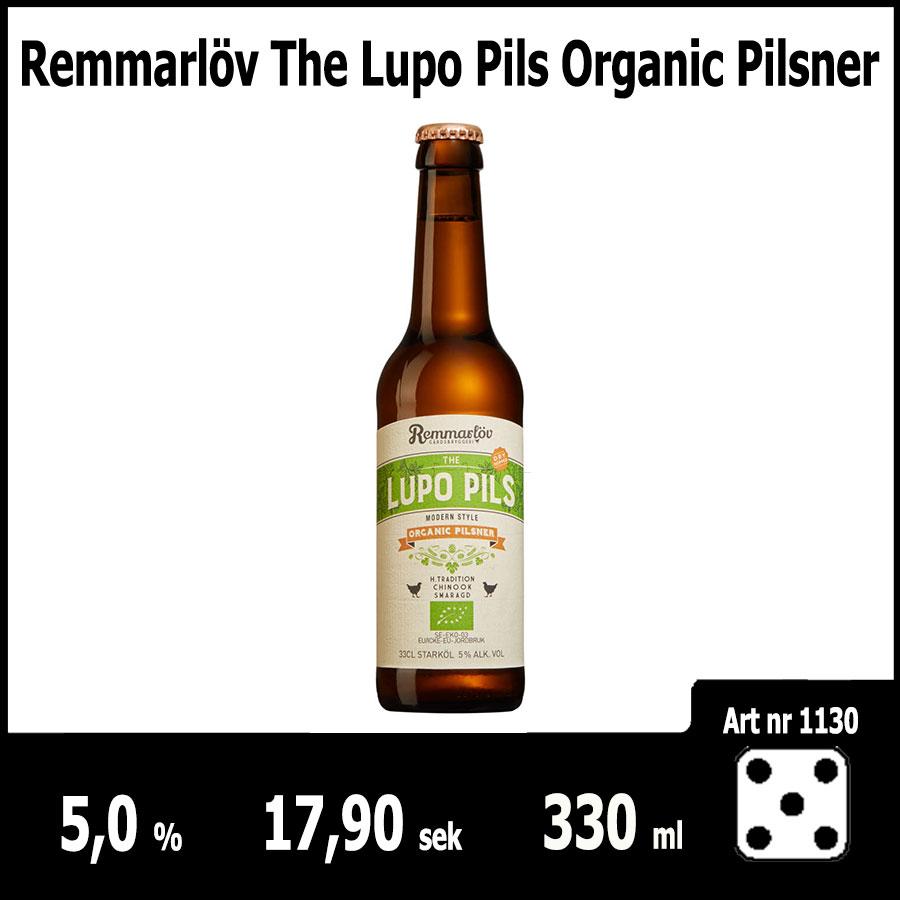 Remmarlöv The Lupo Pils Organic Pilsner - Fasta Sortimentet Juni 2018 : Pilsner.nu