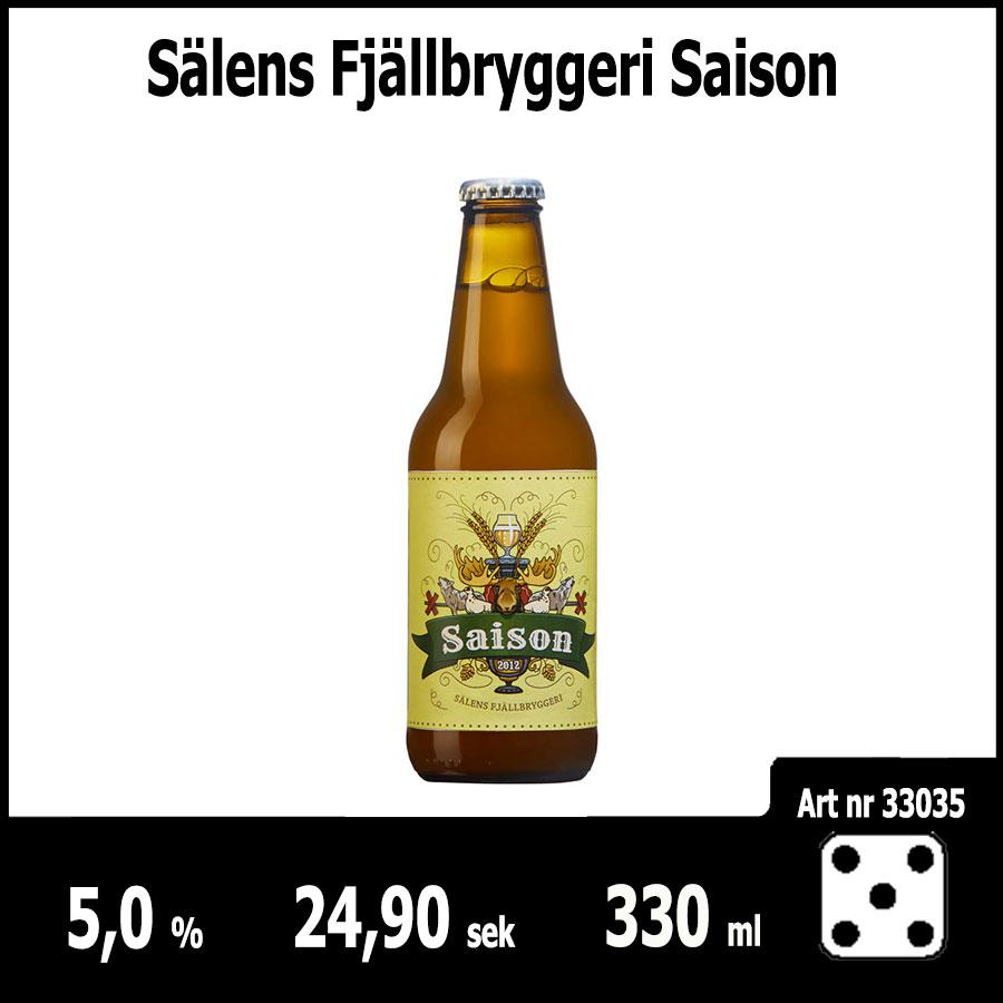 Sälens Fjällbryggeri Saison - Pilsner.nu