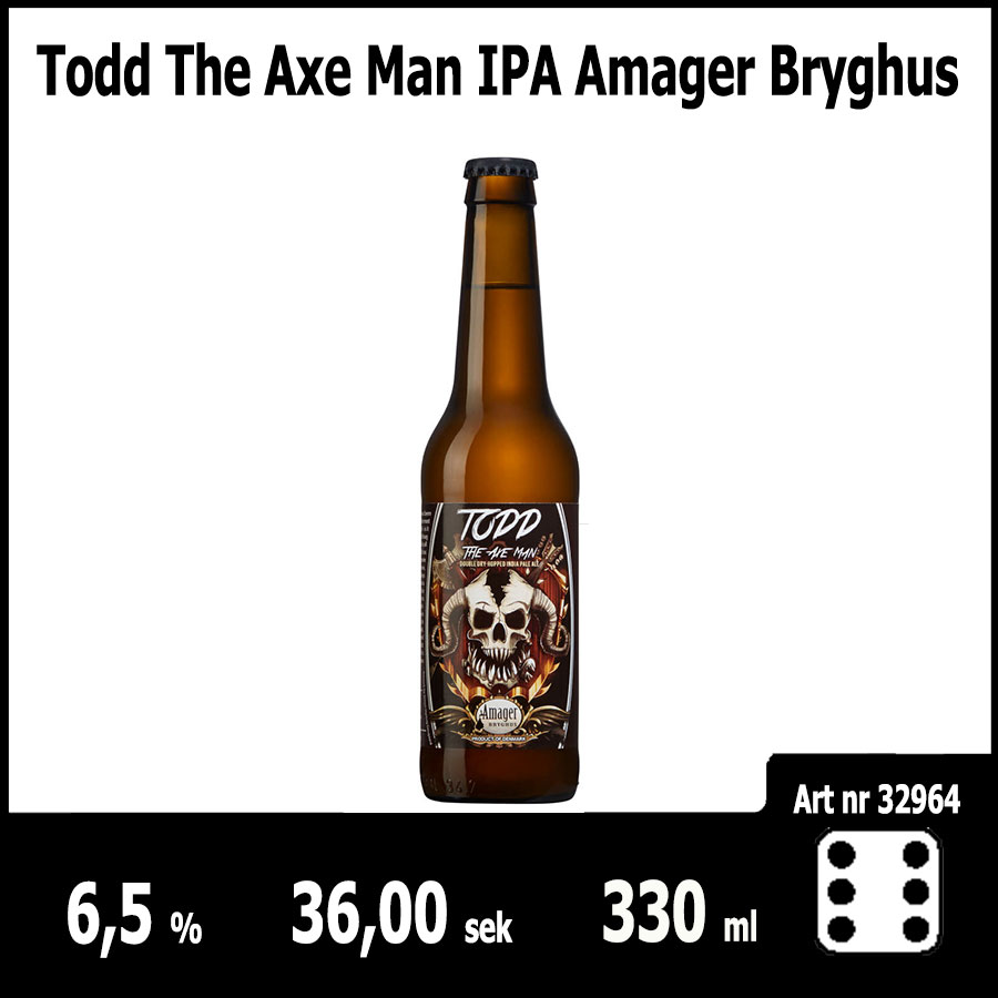 Todd The Axe Man IPA Amager Bryghus - Pilsner.nu