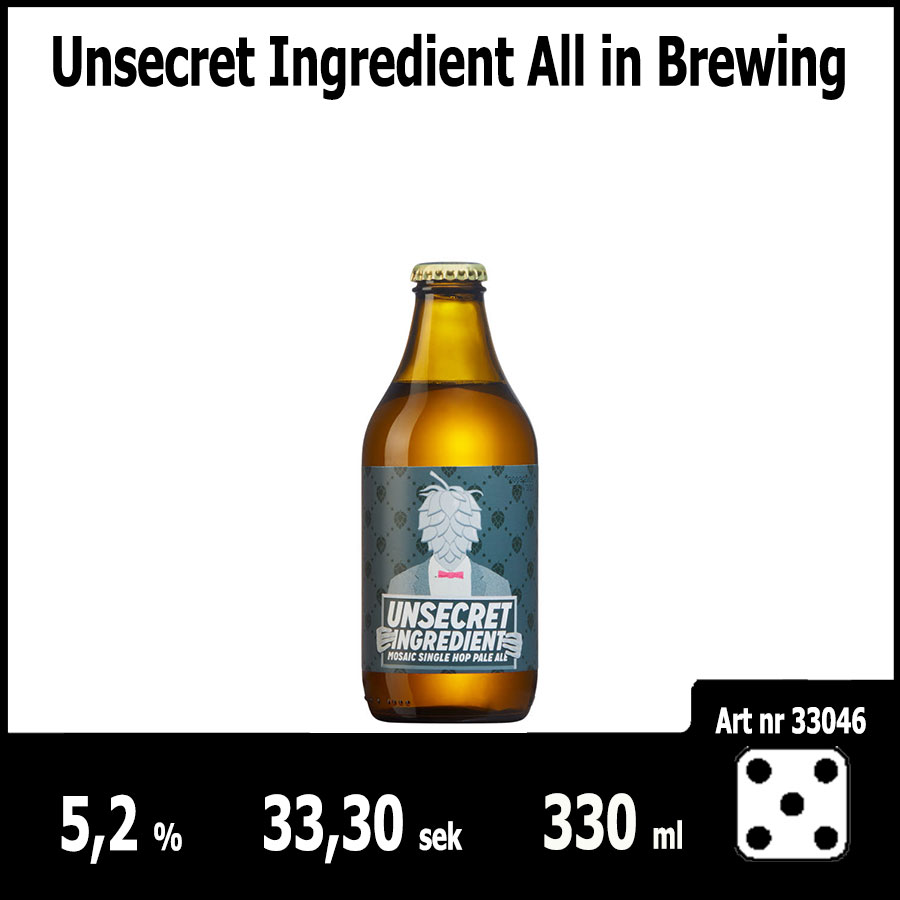 Unsecret Ingredient All in Brewing - Pilsner.nu