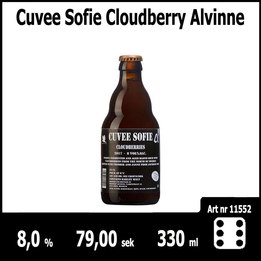 Cuvee Sofie Cloudberry Alvinne : Pilsner.nu