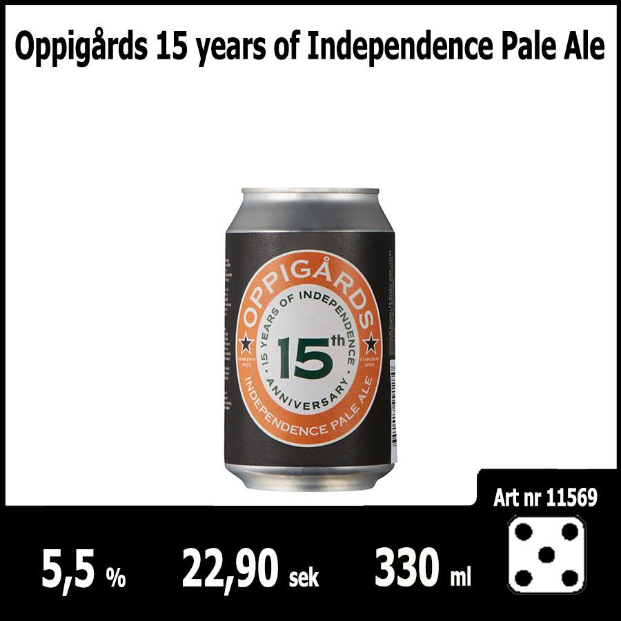 Oppigårds 15 years of Independence Pale Ale : Pilsner.nu