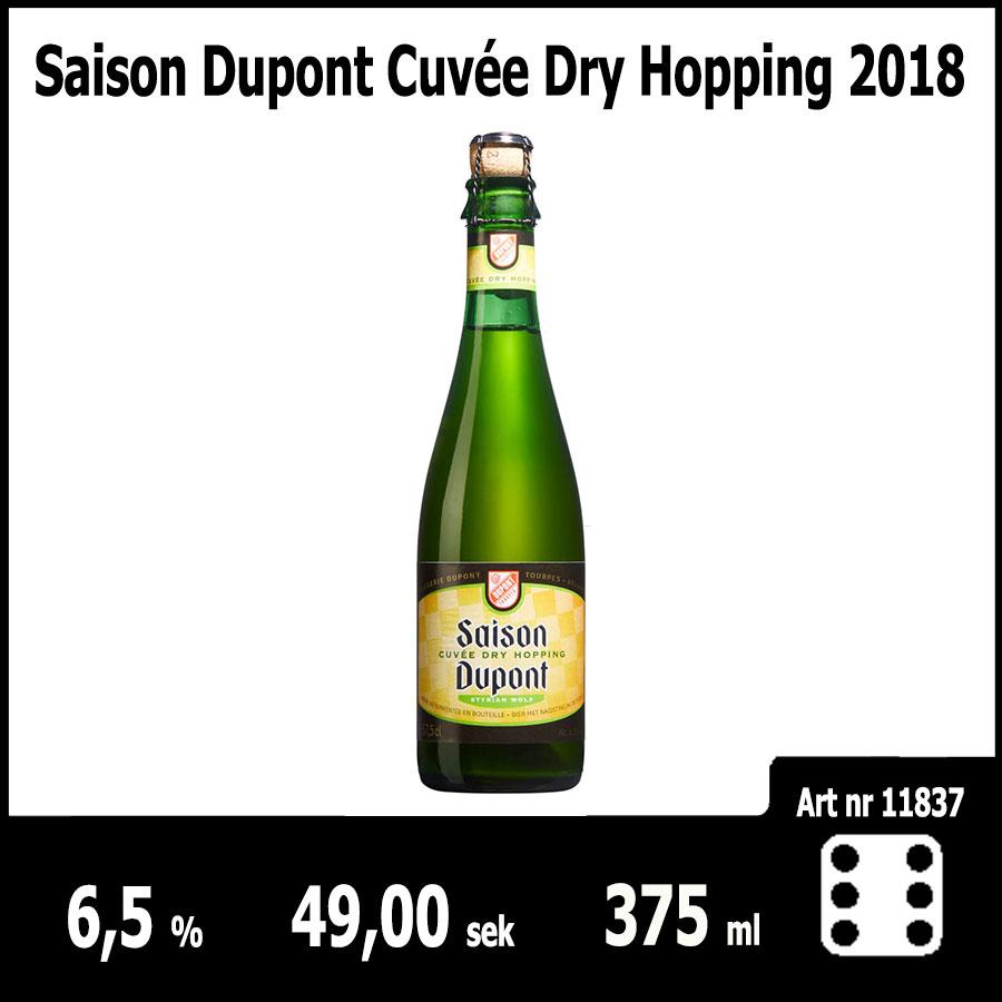 Saison Dupont Cuvée Dry Hopping 2018 : Pilsner.nu