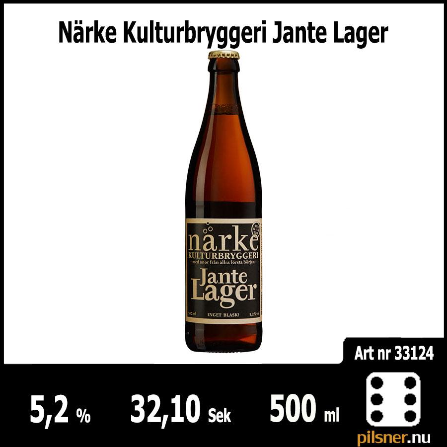 Närke Kulturbryggeri Jante Lager - Pilsner.nu