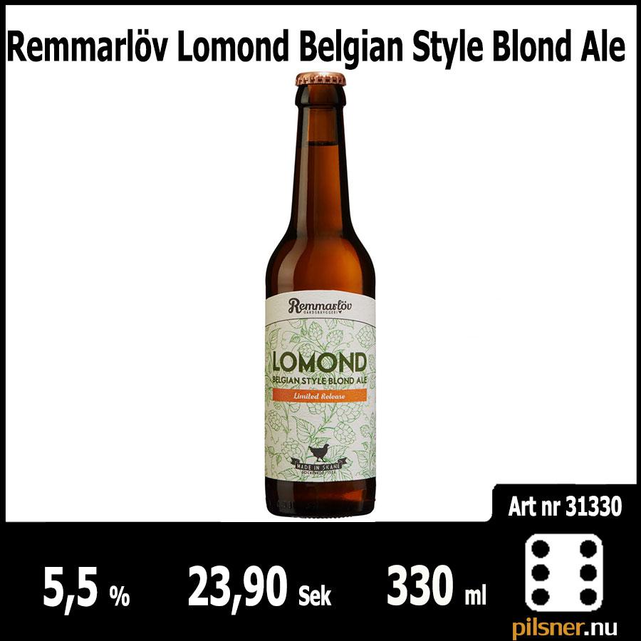 Remmarlöv Lomond Belgian Style Blond Ale - Pilsner.nu