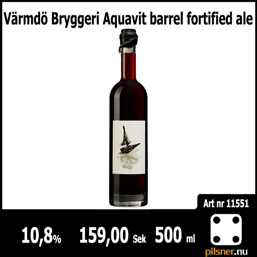 Värmdö Bryggeri Aquavit barrel fortified ale