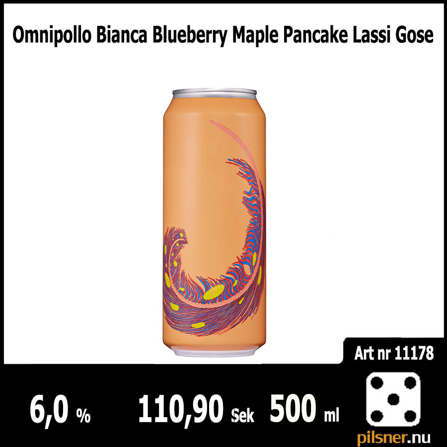 Omnipollo Bianca Blueberry Maple Pancake Lassi Gose