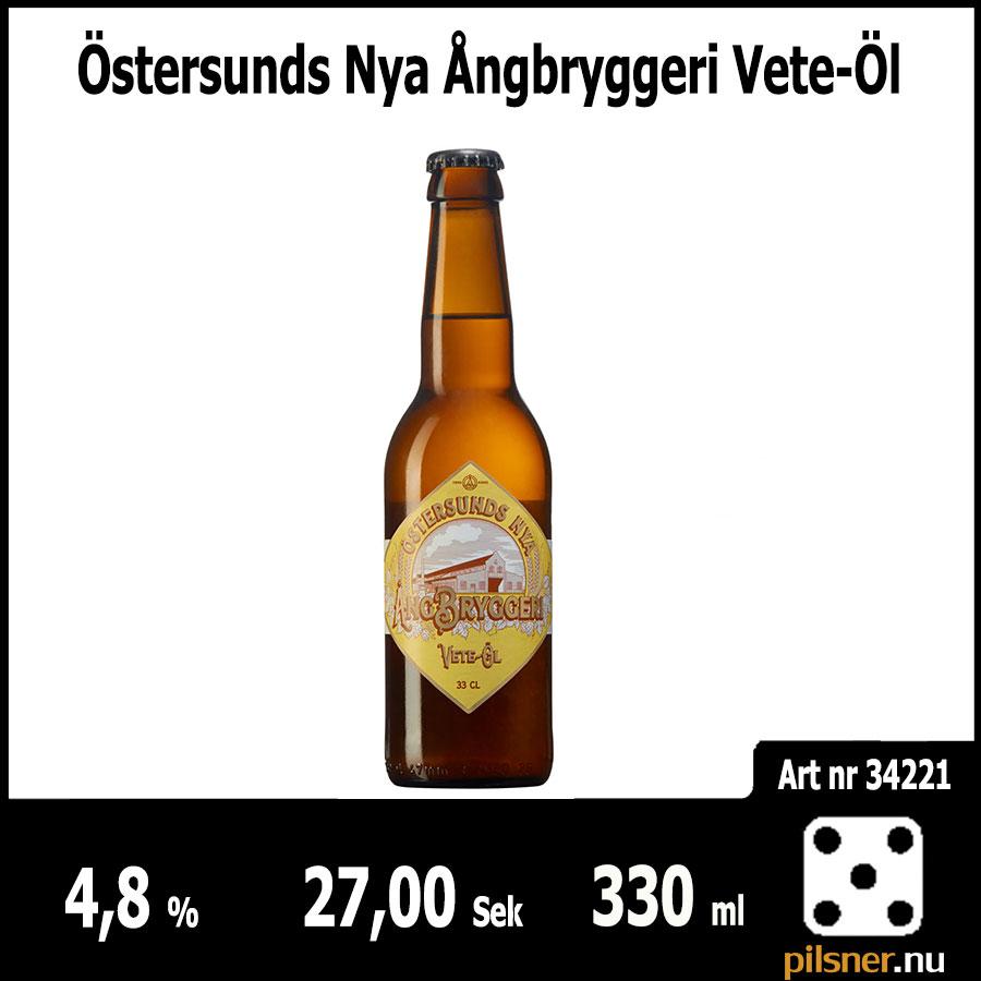 Östersunds Nya Ångbryggeri Vete-Öl