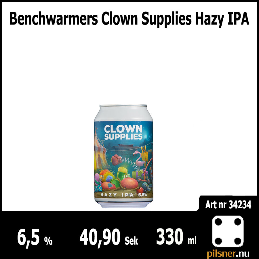 Benchwarmers Clown Supplies Hazy IPA
