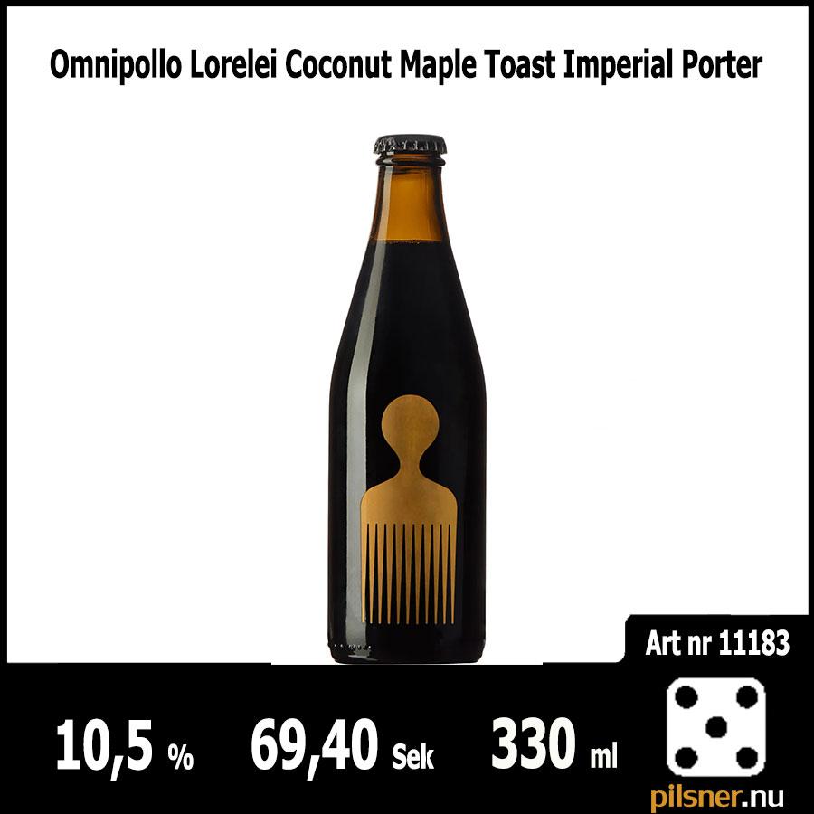 Omnipollo Lorelei Coconut Maple Toast Imperial Porter