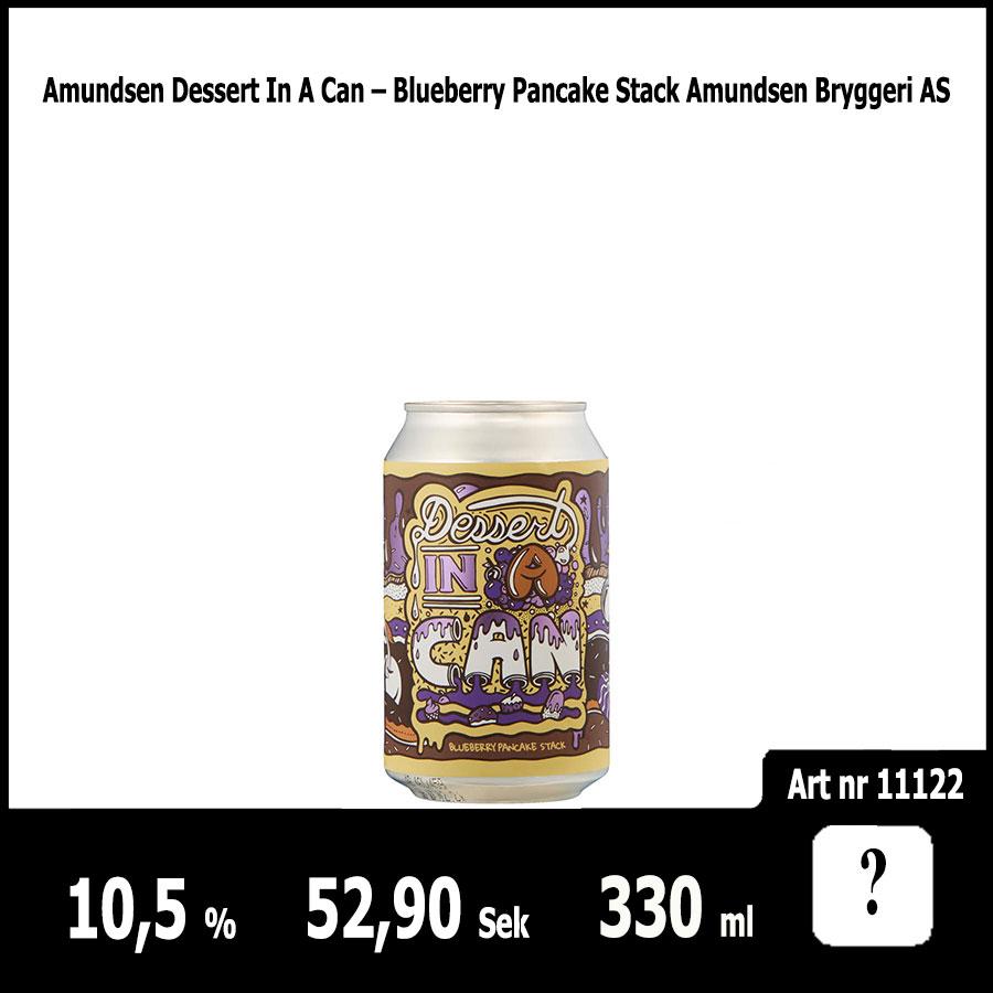 Amundsen Dessert In A Can – Blueberry Pancake Stack