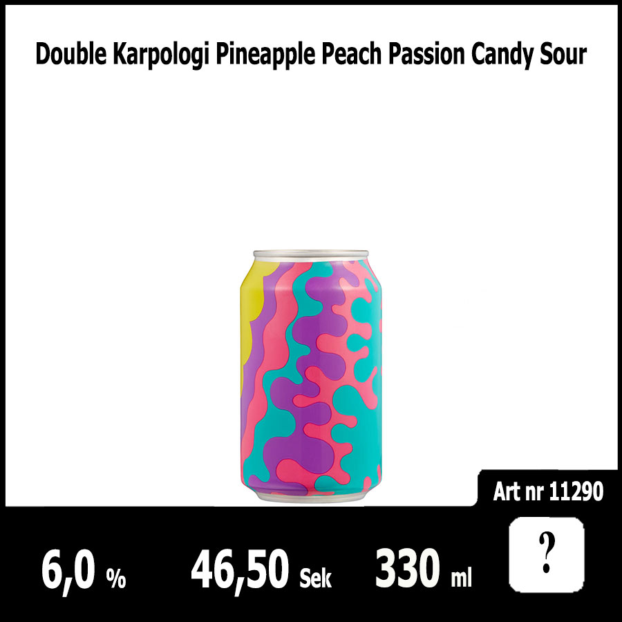 Double Karpologi Pineapple Peach Passion Candy Sour