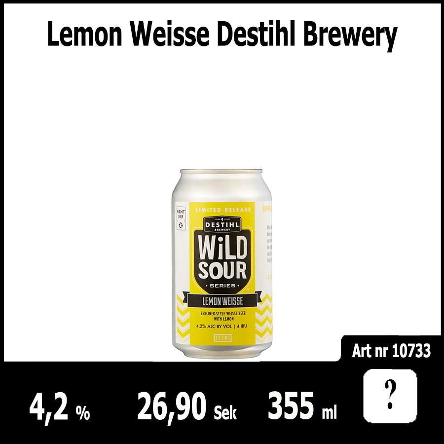 Lemon Weisse Destihl Brewery