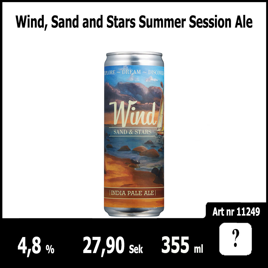 Wind, Sand and Stars Summer Session Ale