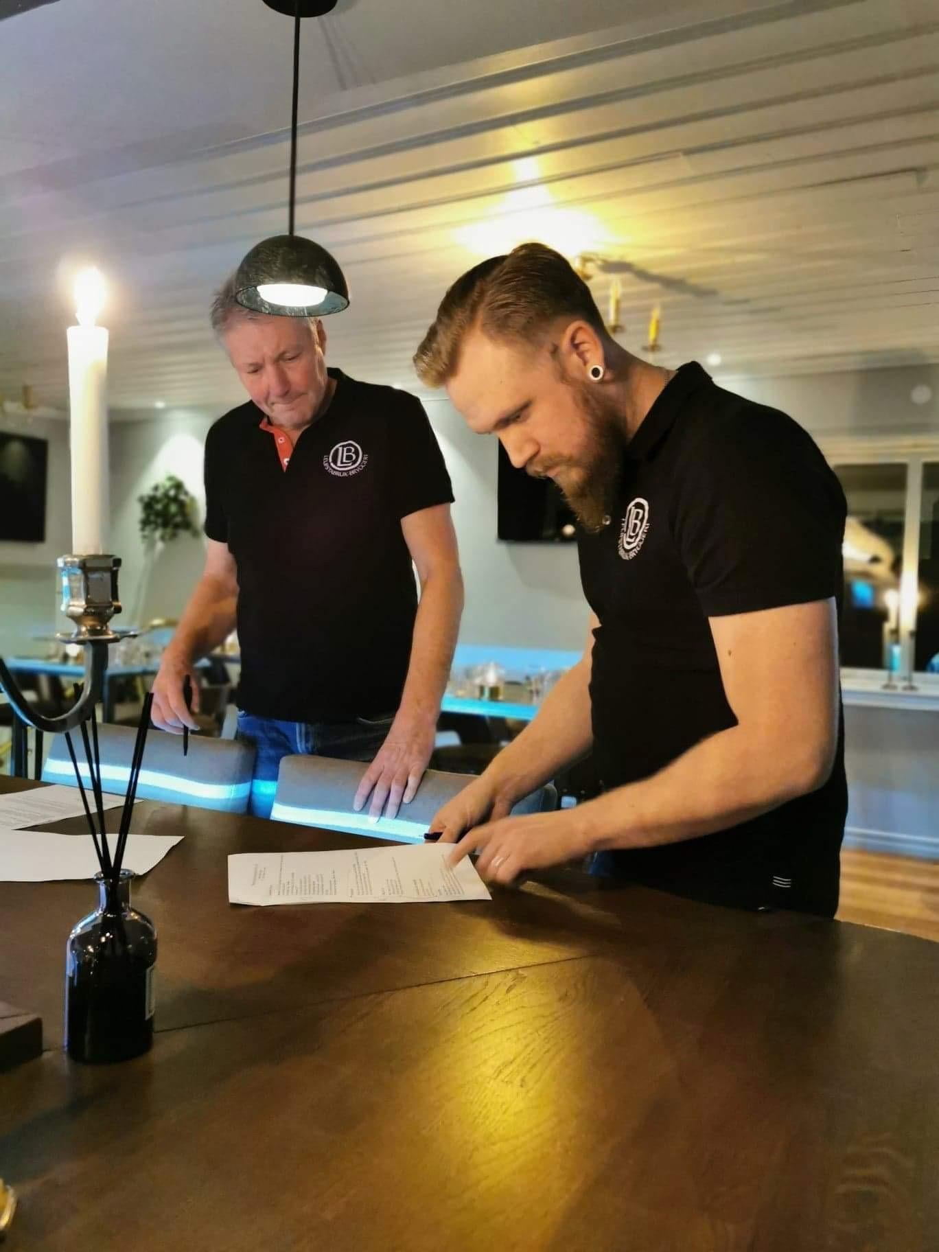 Leufstabruk bryggeri Håkan Lindberg & Tomas Eriksson
