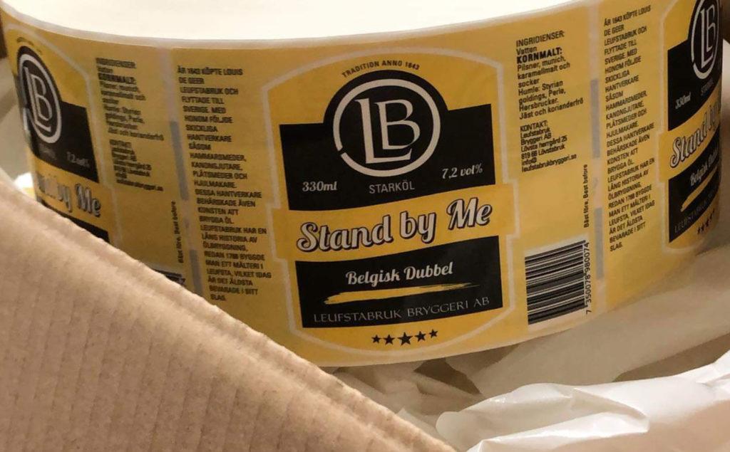 Etikettrulle Leufsta Bryggeri Stand By Me