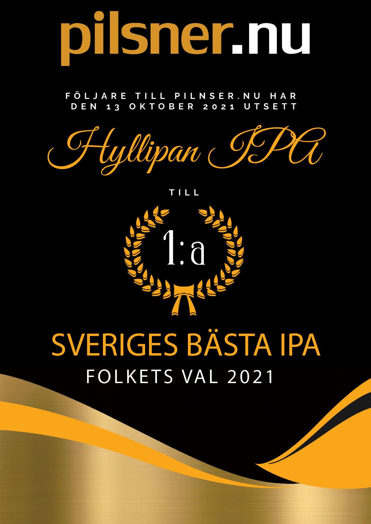 Diplom IPA 1a plats Hyllie Hyllipa